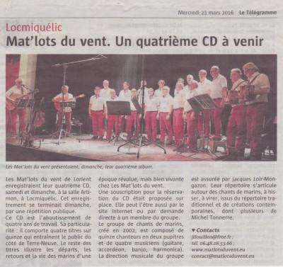 Article Télégramme Artimon